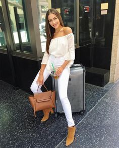 Olivia Culpo (@oliviaculpo) в Instagram: «Vegas bound today!!! ✈️✈️ Wearing my new favorite shirt by @majorelle_collection courtesy of my boo…»