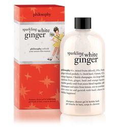 sparkling white ginger | shower gel | philosophy new!