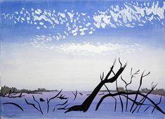 Afbeelding Marie Hugo - Les Bois de l''Embouchure, 1987 (gouache on paper) Gouache, Moose Art, Van, Canvas, Paper, Animals, Painting, Tela, Animaux