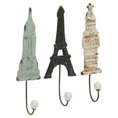 3-Piece Monument Wall Hook Set