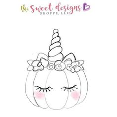 And of course I had to have the unicorn pumpkin. Pumpkin Coloring Pages, Halloween Coloring Pages, Coloring Book Pages, 365 Kawaii, Unicorn Pumpkin, Doodles, Halloween Drawings, Halloween Cookies, Cute Images