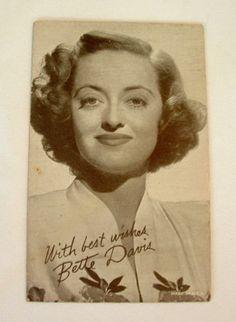 Vintage-BETTE-DAVIS-Arcade-Card-Movie-Star-1940s-Hollywood-Photo