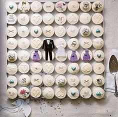 wedding cupcakes  wedding cake yummy