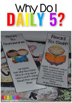 Why I do Daily 5 in my Kindergarten Classroom.