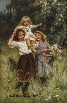 """Wild Roses"" -- Frederick Morgan [1847--1927] British"