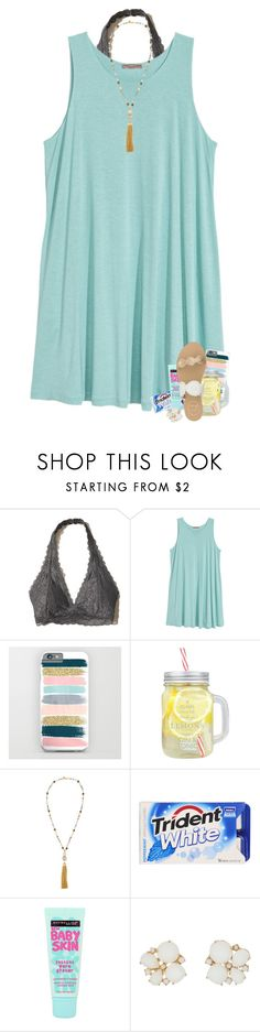 """i hate freshman (no offense)"" by madelinelurene ❤ liked on Polyvore featuring Hollister Co., H&M, Lydell NYC, Maybelline, Kate Spade and Jack Rogers"