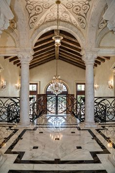 Entryway high ceilings and granite on pinterest for High ceiling entryway