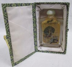 """Vintage Artist Signed Chinese Interior Painted 2-Sided Snuff Bottle 3"""" w/Box"""
