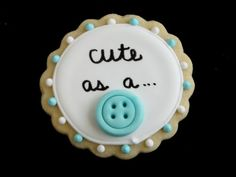 cute as a button baby cookies