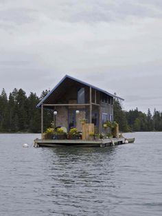 "This houseboat would be a ""cool"" way to stay cool on a hot summer day!"
