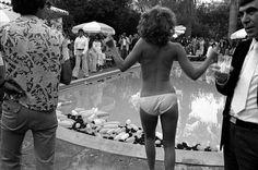 vintage pool party shot