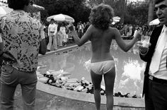 vintage pool party shot