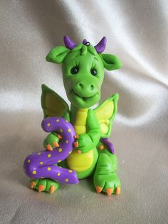 dragon birthday cake topper Christmas ornament by clayqts on Etsy, $27.95