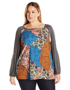 Single Dress Womens Plus Size Enia Cold Shoulder Blouse CobaltRust 1X ** Check this awesome product by going to the link at the image.