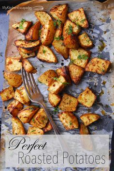 The perfect recipe for roasted potatoes in the oven! This is the best side dish because they have garlic and herbs, then turn out crispy and delicious.