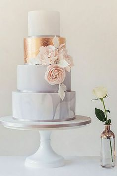 18 Trendy Marble Wedding Cakes ❤ See more: http://www.weddingforward.com/marble-wedding-cakes/ #weddings #cakes