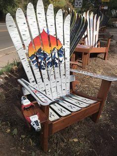 Adirondack Chair, Painted Colorado Aspen Leaf Chair, Mountain Art, Patio  Chair, Deck Chair, Ski Chair, Recycled Ski Wood Chair