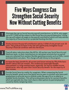 Five Ways Congress Can Boost #SocialSecurity Now.
