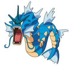 Gyrados..imagine this awesome creature turned from a useless magicarp....
