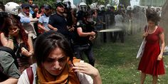 Police disperse protesters with pepper spray to continue partial demolition of Gezi Park...what a shame....