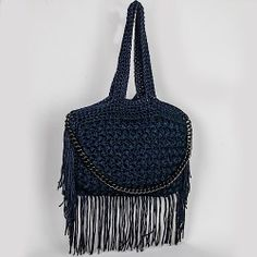 FLOSSIE FRINGED CROCHET BAG