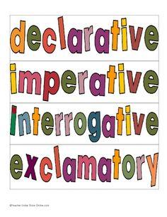 write a declarative sentence