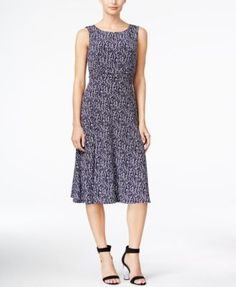 Jessica Howard Sleeveless Ruched A-Line Dress