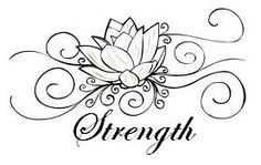 lotus and strength tattoo