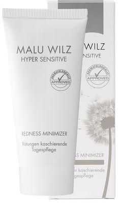 Malu Wilz Redness Minimizer -kosteusvoide. Vihreää pigmettiä sisältävä kosteusvoide, joka auttaa häivyttämään ihon punaisuutta.