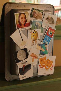 Letter M Magnet Board