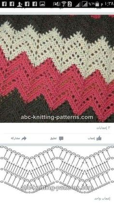 Best 8 Herringbone, Zig Zag Crochet Stitches for Free. Punto Zig Zag Crochet, Zig Zag Crochet Pattern, Crochet Diagram, Crochet Stitches Patterns, Crochet Chart, Crochet Motif, Free Crochet, Knitting Patterns, Bandeau Crochet