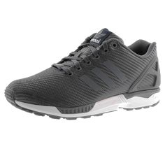 finest selection 34055 95c31 Adidas Originals ZX Flux Trainers In Onix Grey, Full front lace fastening  in onix grey