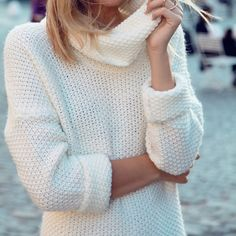 This white turtle neck knit is perfect - just thin enough to be a little bit sexy