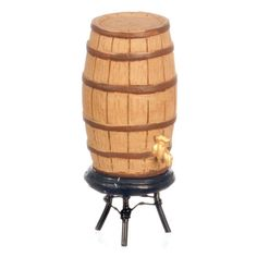 Miniature Wine Barrel with Spigot and Stand  Price $11.99  http://efairies.com/miniature-wine-barrel-with-spigot-and-stand/