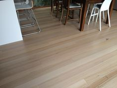 Lime white 1/2c mixed with tiny bit of grey on tas oak and finished with porters clear matt