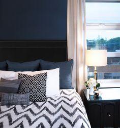 Navy Blue Bedroom Decor New 20 Marvelous Navy Blue Bedroom Ideas Dark Blue Bedrooms, Navy Bedrooms, Coastal Bedrooms, Blue Rooms, Trendy Bedroom, Blue Walls, Bedroom Romantic, Modern Bedroom, Blue Bedroom Decor