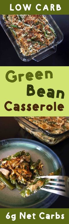 A low carb take on my beloved green bean casserole. This recipe is Low Carb, Keto, Banting, Paleo, Atkins, THM, Sugar Free, Vegetarian and Gluten Free.