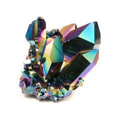 titanium coated quartz ❦ CHRYSTALS ❦ semi precious stones ❦