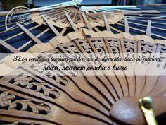 Tipos de varillaje que puedes elegir en Abanicos Carbonell, también en diferentes variedades de madera.