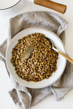 How to cook lentils perfectly (and not mushy). Lentils are small legumes loaded with plant-based protein and nutrients and they're delicious in a variety of healthy recipes. Vegetarian Recipes Easy, Vegetarian Cooking, Veggie Recipes, Whole Food Recipes, Soup Recipes, Cooking Recipes, Healthy Recipes, Pea Recipes, How To Cook Lentils