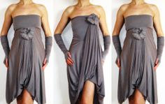 Convertible Wrap Infinity Multi Way Dress Light