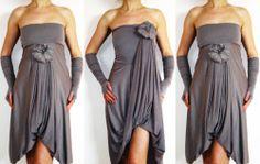Convertible Wrap Infinity Multi Way Dress Light