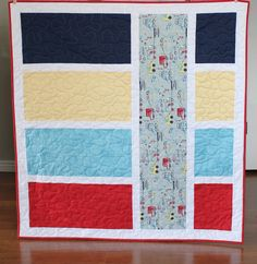 Cars, Trucks and Bicycles - Baby Boy Quilt or Lap Quilt.