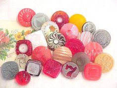 Beautiful Glass Sewing Buttons Collection