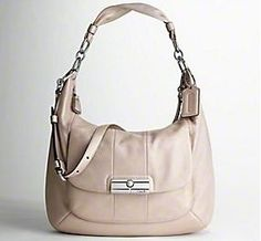 Coach Kristin Convertible Leather Large Hobo 16787 � Coach 16787PNK