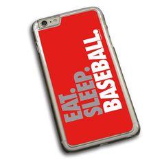 Baseball Phone Case Eat Sleep Baseball Bold Text
