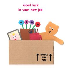 Good Luck in Your New Job! Good Luck New Job, Good Job, Goodbye Cards, New Job Card, Leaving Cards, Folded Cards, Paper Shopping Bag, Congratulations, Card Making