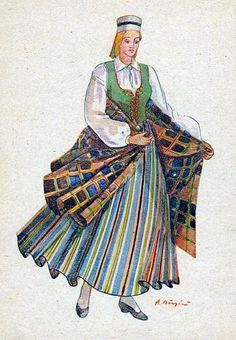 Latvian Folk Costumes Vainode
