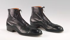 1915-1925 American leather Boots (Balmorals), Attributed to Hurd Shoe Co.