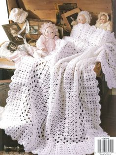 Heirloom for Baby Afghans Crochet Patterns Blankets Book Keepsake Pretty Lacy Crochet Afghans, Baby Afghan Crochet Patterns, Crochet Baby Blanket Beginner, Baby Afghans, Crochet Books, Baby Knitting, Baby Blankets, Crochet Bebe, Baby Girl Crochet